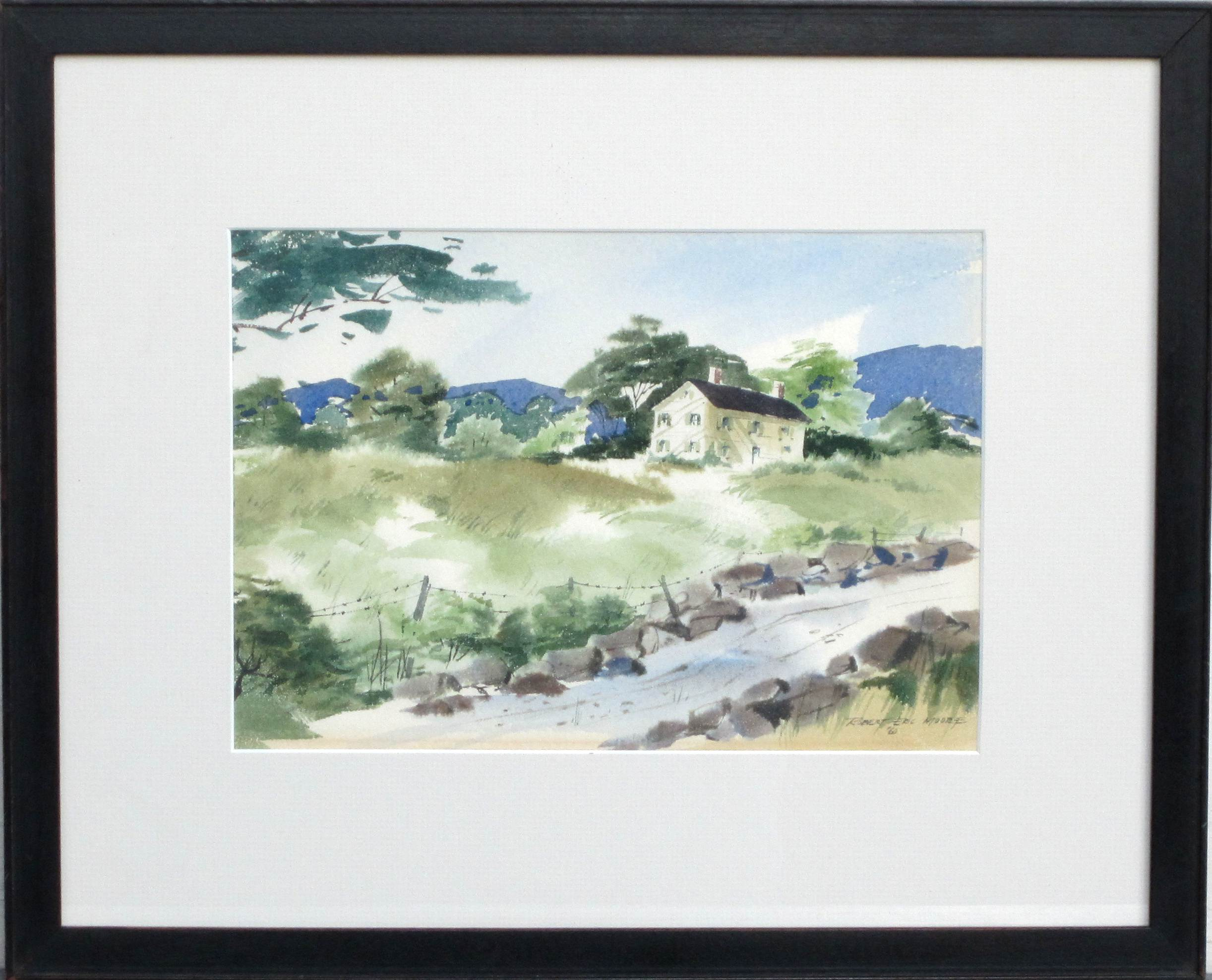 Matting A Watercolor Painting By Robert Eric Moore